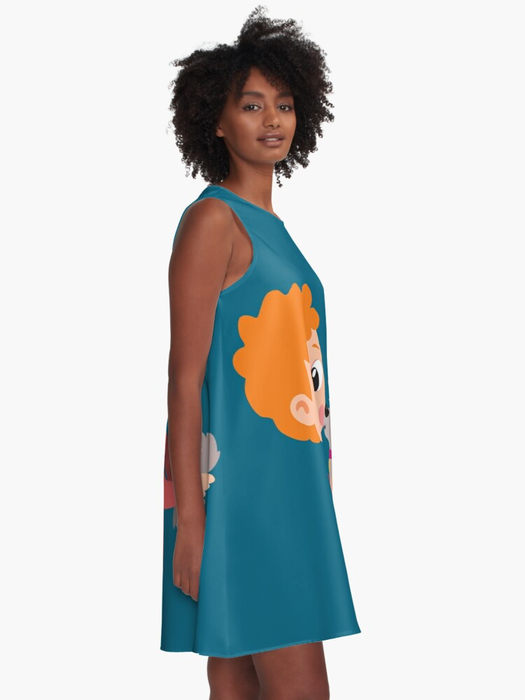 Alternate view of Boy with little dog A-Line Dress