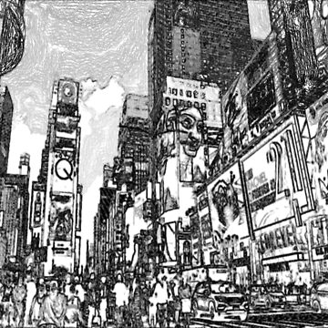 Living in New York City Life Penciled various branches of creativity by Deestylistic