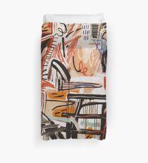 A vectorised Basquiat Duvet Cover