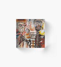 A vectorised Basquiat Acrylic Block