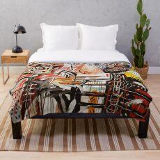 Ein vektorisierter Basquiat Fleecedecke