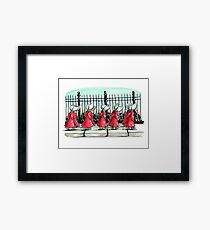 The Women in Red Framed Print