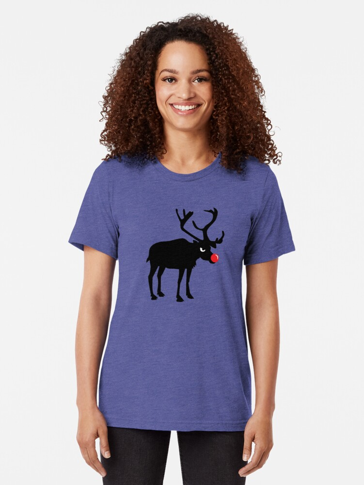 Alternate view of Angry Animals: Rudolph the red nosed Reindeer Tri-blend T-Shirt