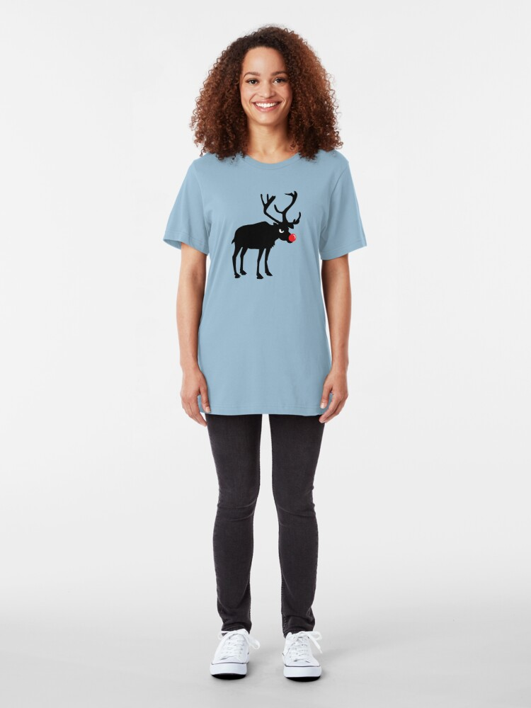 Alternate view of Angry Animals: Rudolph the red nosed Reindeer Slim Fit T-Shirt