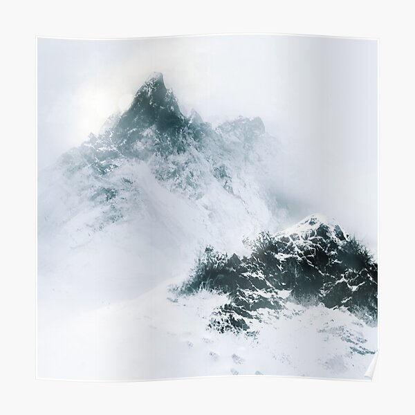 Speed Painting - Snowy Mountain Poster