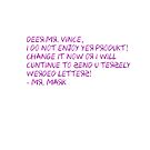 Mark Letter to Vince by PodWresSociety