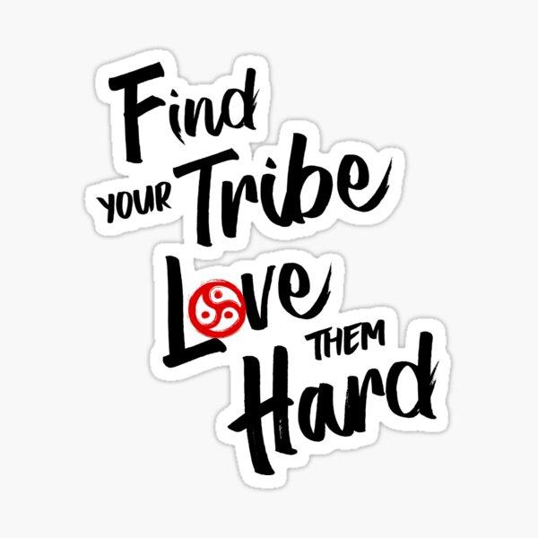 Find Your Tribe - BDSM Triskelion Red Sticker