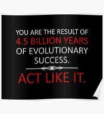 Handeln Sie wie es. Poster