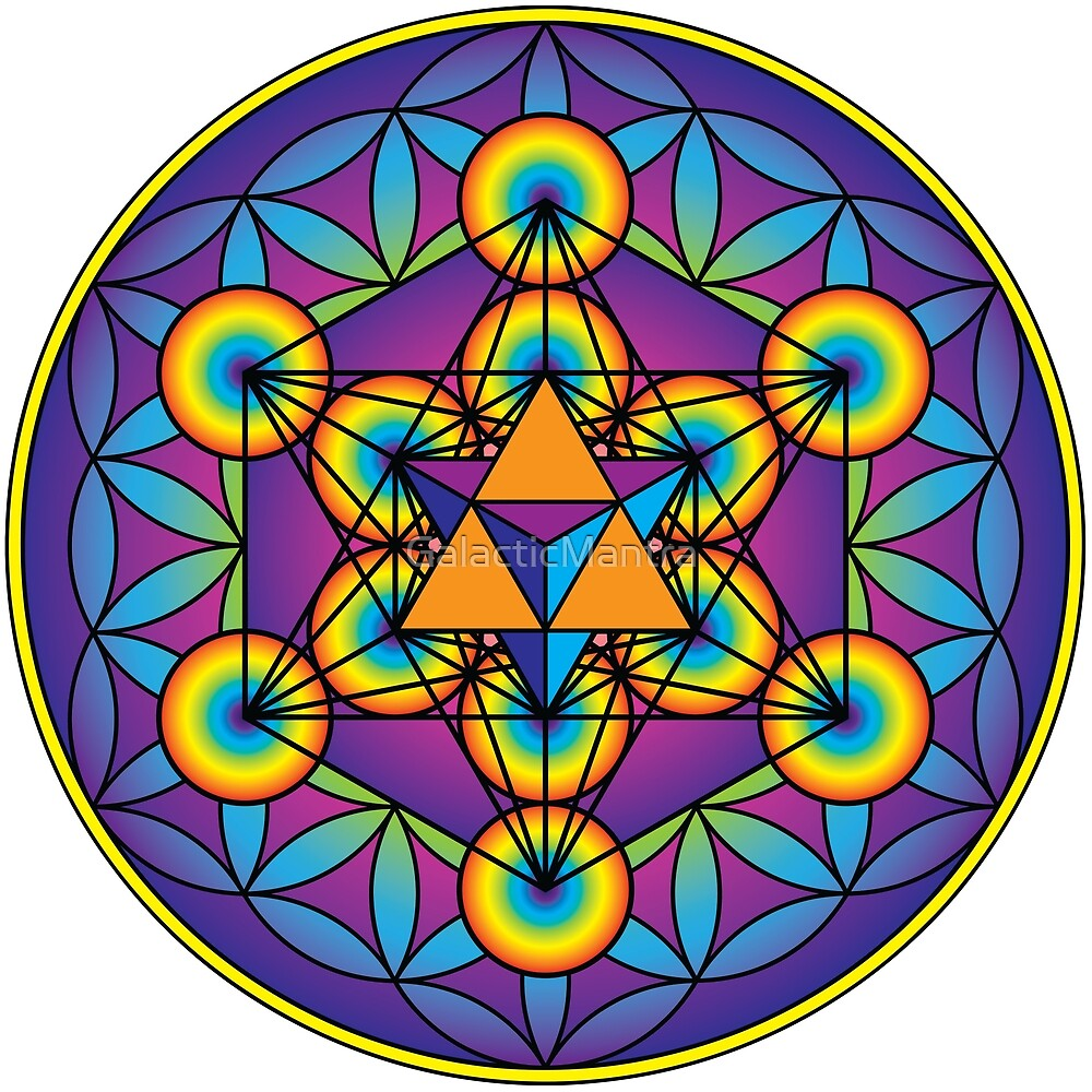 Merkaba with Metatron's Cube  by GalacticMantra