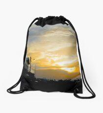 nuclear sun Drawstring Bag