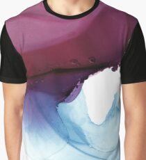 Shades of Purple, Abstract Fluid Artwork Graphic T-Shirt