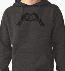 LOVE 812 INDIANA - HEART SHAPED HANDS WITH 812 AREA CODE IN THE CENTER Pullover Hoodie