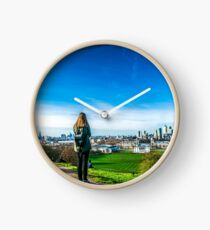 View of London from the Greenwich Observatory Clock