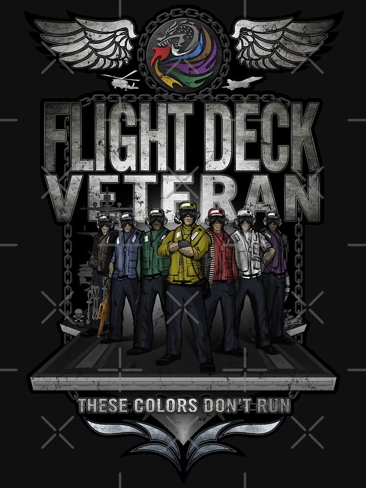 "Flight Deck Veteran ""These Colors Don't Run"" by hobrath"