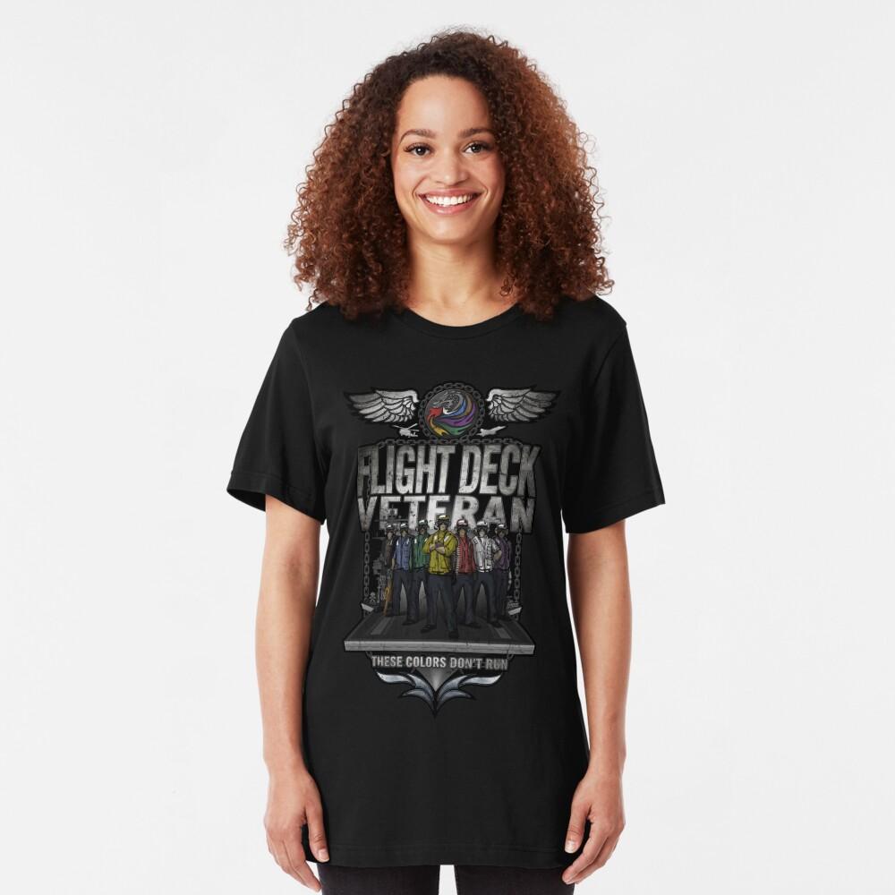"Flight Deck Veteran ""These Colors Don't Run"" Slim Fit T-Shirt"