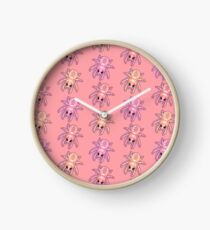 Kawaii Spiders Clock