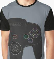 N64 Black Controller - Nintendo 64 Retro Design Graphic T-Shirt