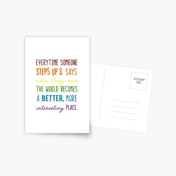 Captain Holt LGBTQ+ Quote Postcard