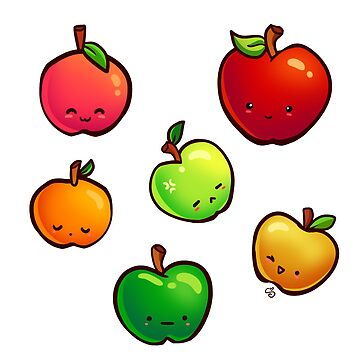 Kawaii Apple Pattern by shellz-art