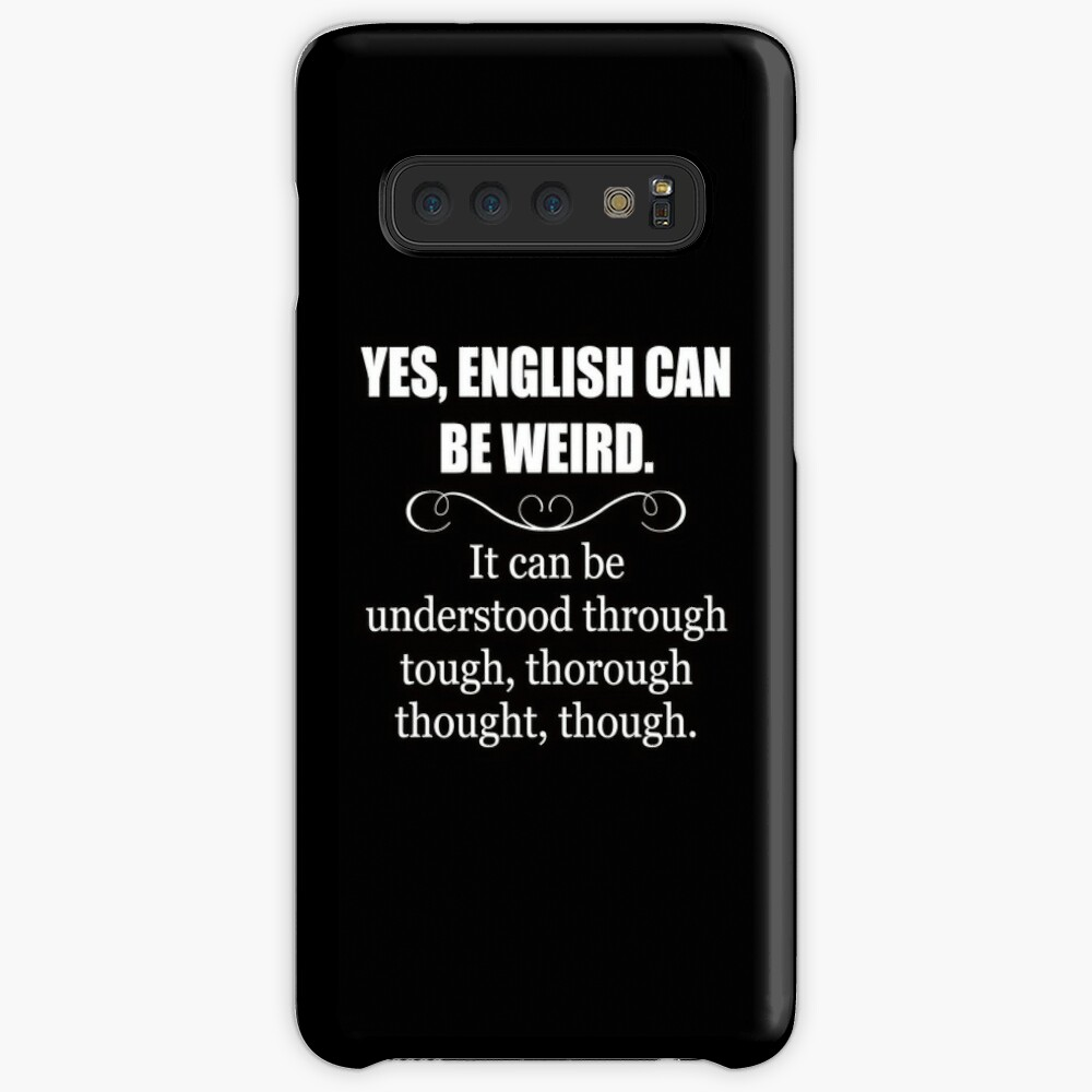 Englisch kann seltsam sein - lustige Lehrer-Anerkennungs-Geschenke - englische Sprache Hülle & Klebefolie für Samsung Galaxy