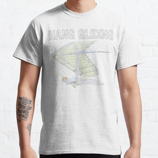 Hang Gliding Color Sketch Classic T-Shirt