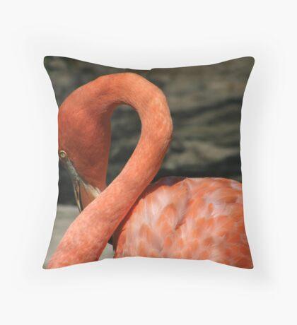 Flamingo Neckline Throw Pillow