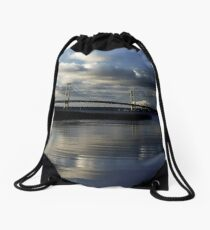 Morning at the bridge Drawstring Bag
