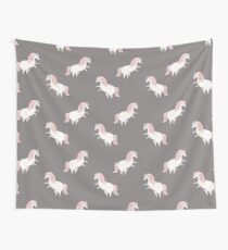 Unicorn Pattern - pink Wall Tapestry