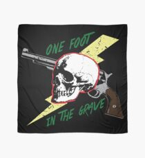 One Foot In the Grave Skull Scarf