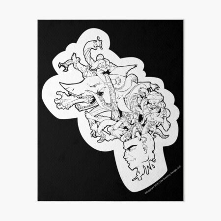 Jiu Jitsu on My Mind Art Board Print