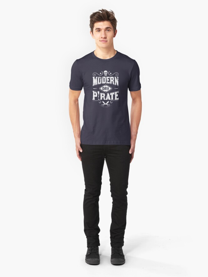 Alternative Ansicht von Modern Day Pirate - Amputee Gift Slim Fit T-Shirt