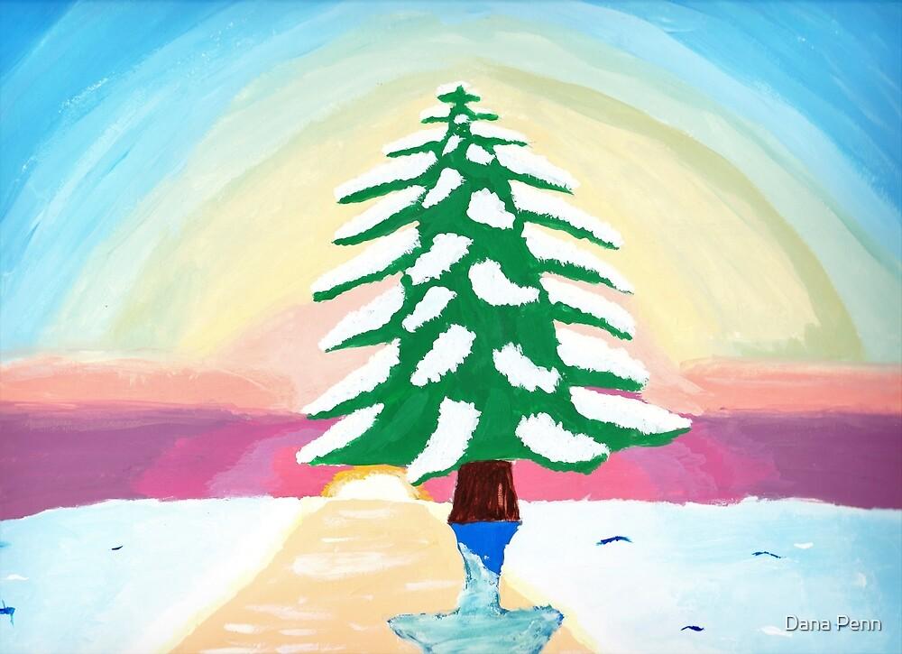Winter Tree Painting by Dana Penn