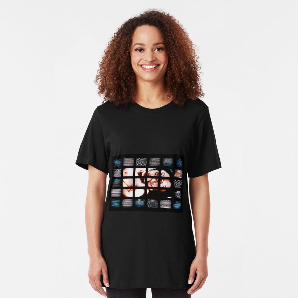 Japanese & Digital Noise Camiseta ajustada