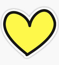 yellow heart Sticker