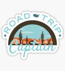 Road Trip Captain Sticker