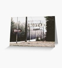 misty motel Greeting Card