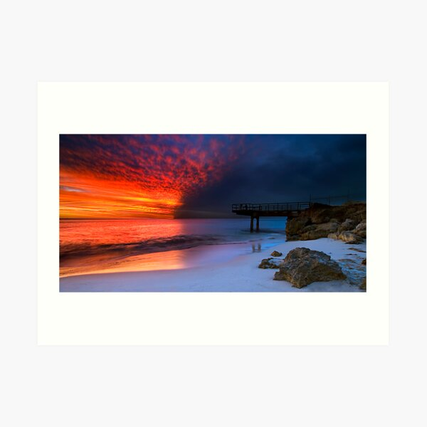 Fire Water Art Print
