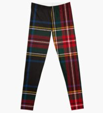 STEWART BLACK TARTAN Leggings