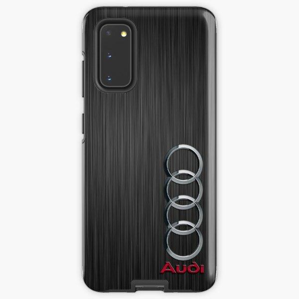 Audi logo on a field of steel Samsung Galaxy Tough Case