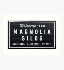 Welcome to Magnolia Silos  Art Print