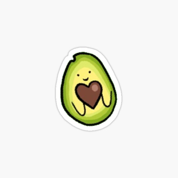 heart pit avocado Sticker