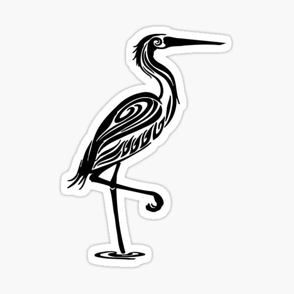 Egret Sticker