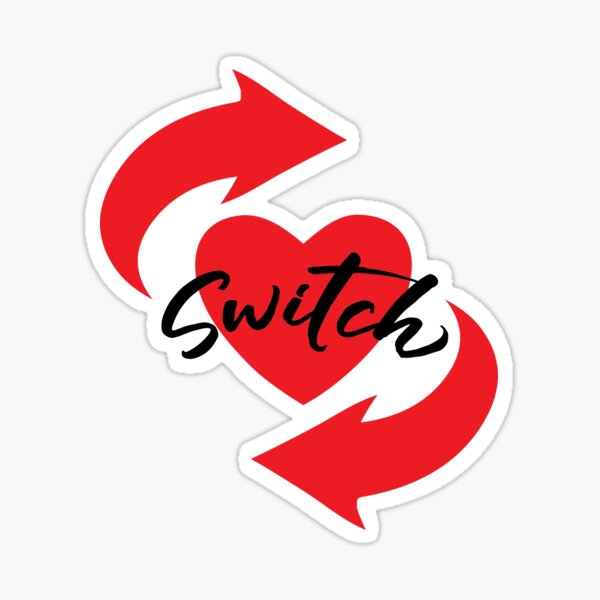 Switch Heart Sticker