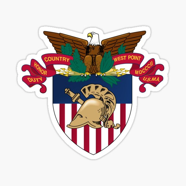 "Academia Militar de los Estados Unidos (USMA) - ""West Point"" Pegatina"