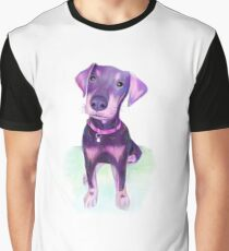 Graffiti Doberman Puppy Graphic T-Shirt