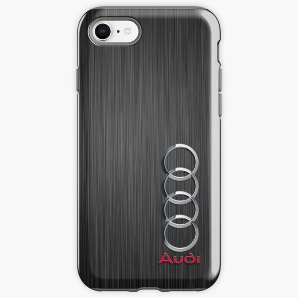Audi logo on a field of steel iPhone Tough Case