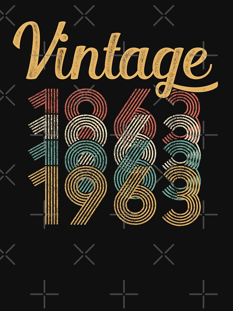 Vintage 1963 - 55th Birthday by funny-gift