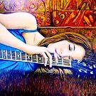 "Guitar Girl in Landscape by Belinda ""BillyLee"" NYE (Printmaker)"