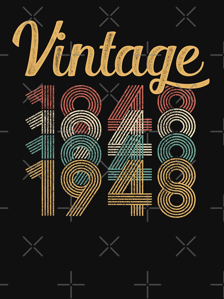 Vintage 1948 - 70th Birthday by funny-gift