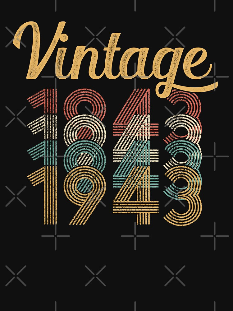 Vintage 1943 - 75th Birthday by funny-gift